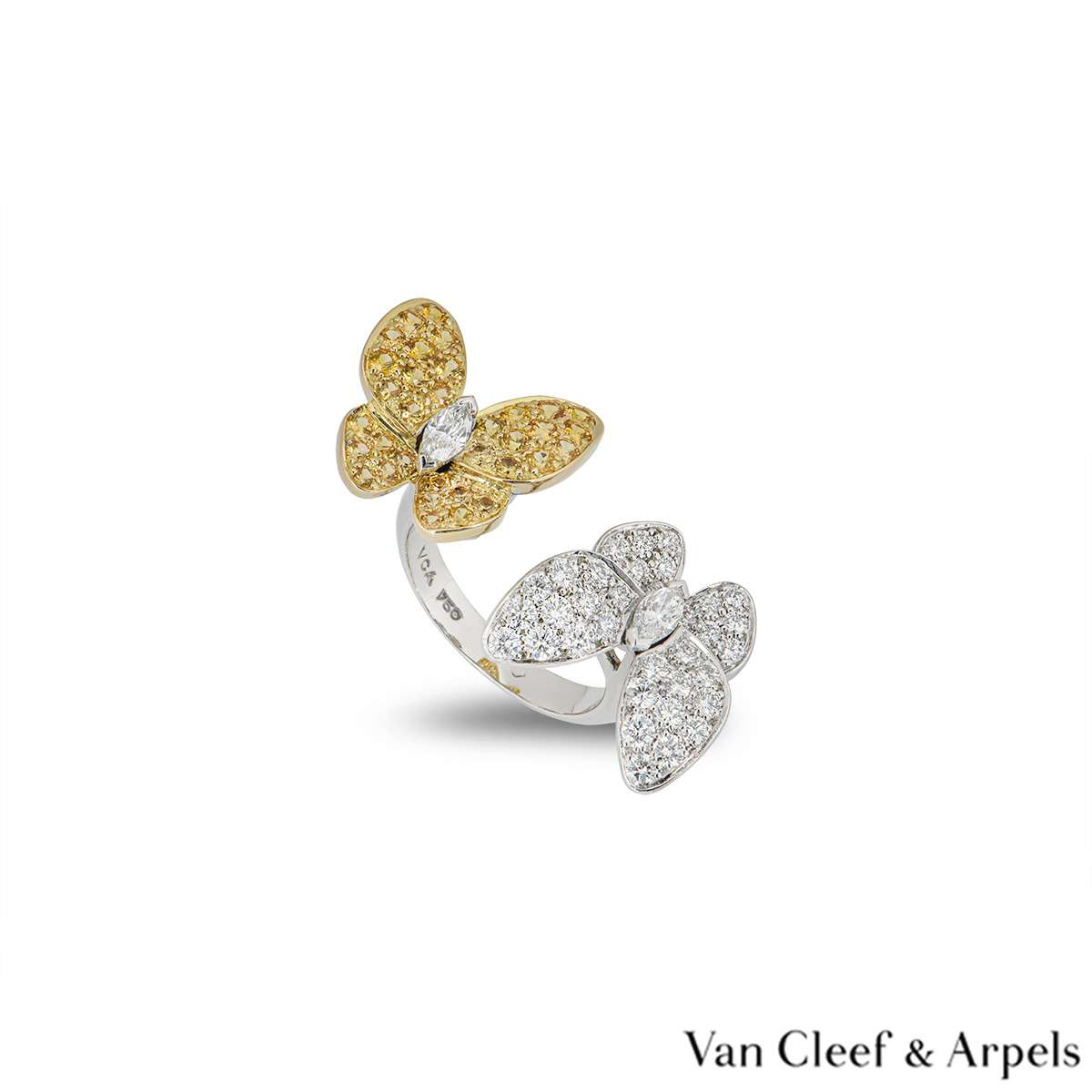 Van Cleef & Arpels Two Butterfly Between the Finger Ring VCARA13600